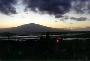 Morning Beach Fire, Kaho'olawe, Hawaii.