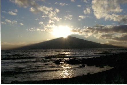 Sunrise over Haleakala.